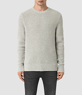 Mens Tornn Crew Sweater (Grey Marl) - product_image_alt_text_1