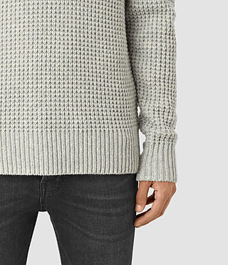 Mens Tornn Crew Sweater (Grey Marl) - product_image_alt_text_2
