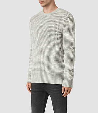 Mens Tornn Crew Sweater (Grey Marl) - product_image_alt_text_3