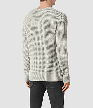 Mens Tornn Crew Sweater (Grey Marl) - product_image_alt_text_4