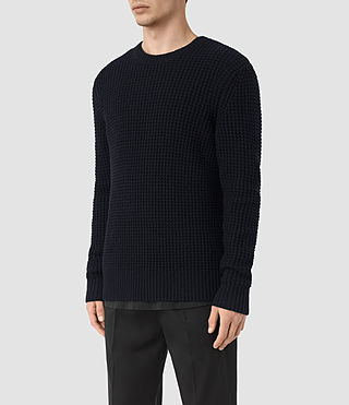 Hombres Tornn Crew Jumper (INK NAVY) - product_image_alt_text_4