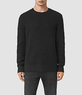 Mens Tornn Crew Sweater (Cinder Black Marl) - product_image_alt_text_1