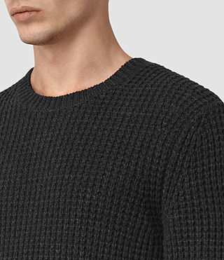 Mens Tornn Crew Sweater (Cinder Black Marl) - product_image_alt_text_2
