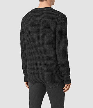 Mens Tornn Crew Sweater (Cinder Black Marl) - product_image_alt_text_4