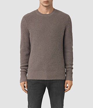 Mens Tornn Crew Sweater (Fawn Brown Marl) - product_image_alt_text_1