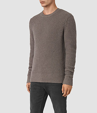 Mens Tornn Crew Sweater (Fawn Brown Marl) - product_image_alt_text_2