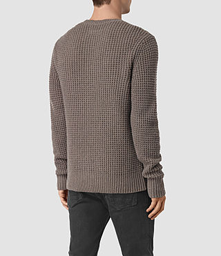 Mens Tornn Crew Sweater (Fawn Brown Marl) - product_image_alt_text_4