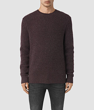 Men's Tornn Crew Jumper (DAMSON RED MARL) -