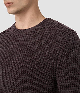 Hombres Tornn Crew Jumper (DAMSON RED MARL) - product_image_alt_text_2