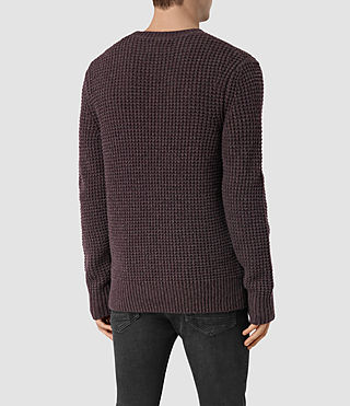 Hombres Tornn Crew Jumper (DAMSON RED MARL) - product_image_alt_text_4