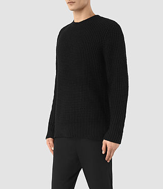 Men's Tornn Crew Jumper (Black) - product_image_alt_text_2