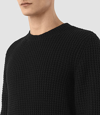 Men's Tornn Crew Jumper (Black) - product_image_alt_text_3