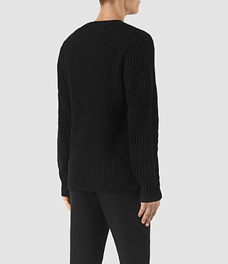 Men's Tornn Crew Jumper (Black) - product_image_alt_text_4
