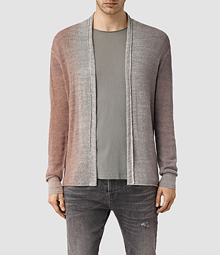 Mens Solstice Cardigan (QUTZ PNK/STEPL GRY) - product_image_alt_text_1
