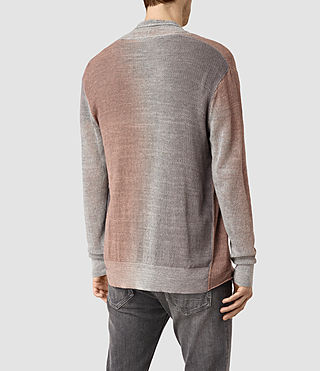 Mens Solstice Cardigan (QUTZ PNK/STEPL GRY) - product_image_alt_text_3