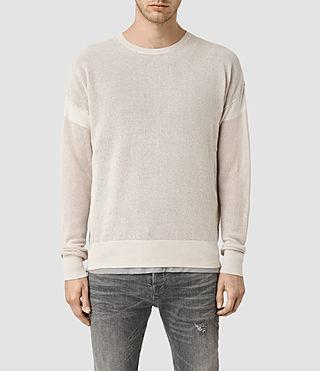 Mens Arden Crew Sweater (Ecru/Chalk)