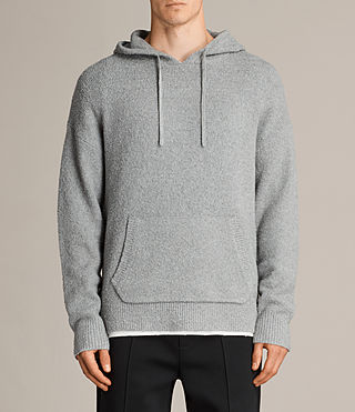 Men's Arinn Knitted Hoody (Grey Marl) - product_image_alt_text_1