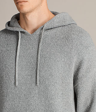 Men's Arinn Knitted Hoody (Grey Marl) - product_image_alt_text_2