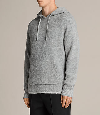 Men's Arinn Knitted Hoody (Grey Marl) - product_image_alt_text_3