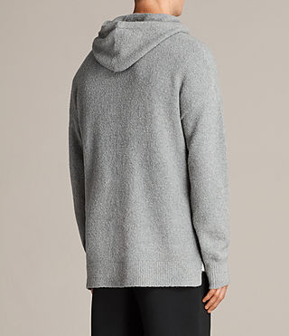 Men's Arinn Knitted Hoody (Grey Marl) - product_image_alt_text_5