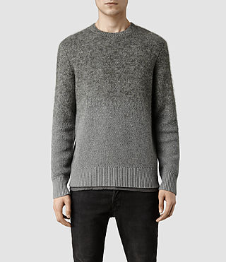 Mens Eren Crew Sweater (Grey Marl)