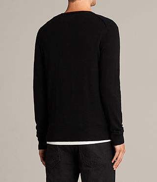 Men's Alec V Neck Jumper (Black) - Image 4
