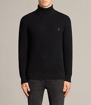 Mens Trias Roll Neck (Black)