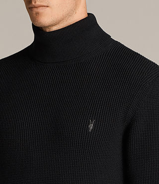 Mens Trias Roll Neck (Black) - product_image_alt_text_2