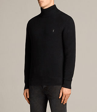 Mens Trias Roll Neck (Black) - product_image_alt_text_3