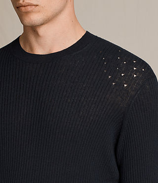 Men's Jace Crew Jumper (INK NAVY) - Image 2
