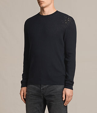 Men's Jace Crew Jumper (INK NAVY) - Image 3