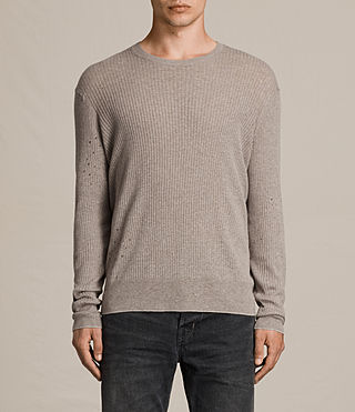 Hombre Jersey Jace (PUTTY GREY MARL) - product_image_alt_text_1