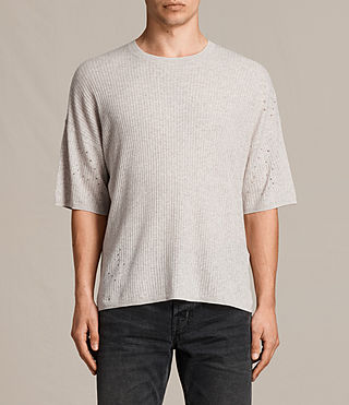 Men's Jace Short Sleeve Crew Jumper (Taupe Marl) -