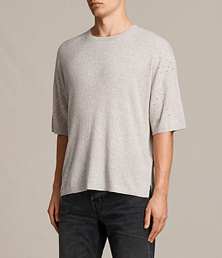 Men's Jace Short Sleeve Crew Jumper (Taupe Marl) - product_image_alt_text_3