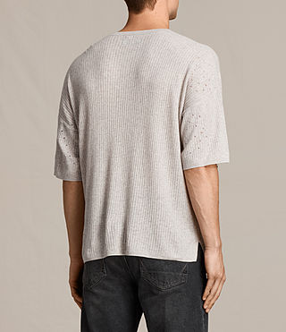 Men's Jace Short Sleeve Crew Jumper (Taupe Marl) - product_image_alt_text_4