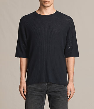Men's Jace Short Sleeve Crew Jumper (INK NAVY) -