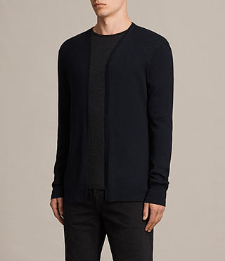 Hombres Cardigan Jace (INK NAVY) - product_image_alt_text_3