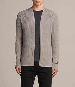 Men's Jace Cardigan (PUTTY GREY MARL) - Image 1