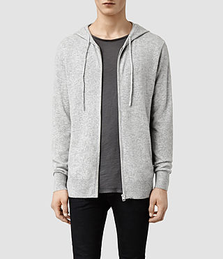 Men's Rout Cashmere Hoody (Grey Marl)
