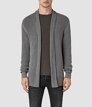 Mens Marrin Cardigan (Grey Marl) - product_image_alt_text_1