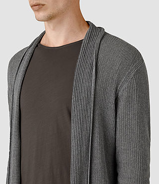 Mens Marrin Cardigan (Grey Marl) - product_image_alt_text_2