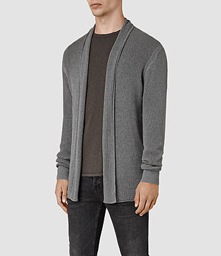 Mens Marrin Cardigan (Grey Marl) - product_image_alt_text_3