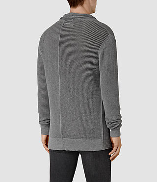 Mens Marrin Cardigan (Grey Marl) - product_image_alt_text_4
