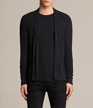 Mens Marrin Cardigan (Cinder Black Marl)