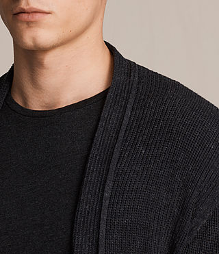 Mens Marrin Cardigan (Cinder Black Marl) - product_image_alt_text_2