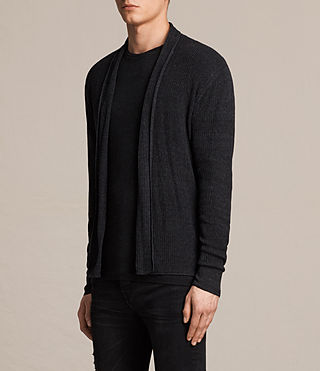 Mens Marrin Cardigan (Cinder Black Marl) - product_image_alt_text_3