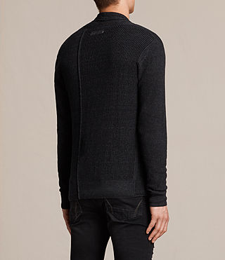 Mens Marrin Cardigan (Cinder Black Marl) - product_image_alt_text_4