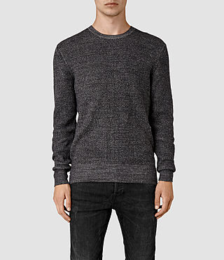 Men's Serle Crew Jumper (Cinder Black Marl)