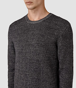Mens Serle Crew Sweater (Cinder Black Marl) - product_image_alt_text_2