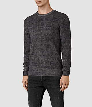 Mens Serle Crew Sweater (Cinder Black Marl) - product_image_alt_text_3